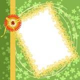 för sidascrapbook för kant blom- grön fjäder stock illustrationer