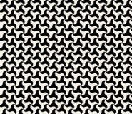 För sidotriangel för vektor sömlös svartvit rund modell Royaltyfri Foto