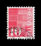 ` För siffra` 10 på mönstrad bakgrund, siffer- serie, circa 1970 Royaltyfria Bilder