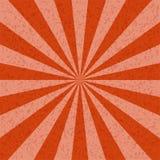För signalmodell för Sunburst orange bakgrund Royaltyfri Bild