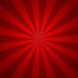 För signaltappning för Sunburst röd bakgrund för modell Vektorillustrati Royaltyfri Foto