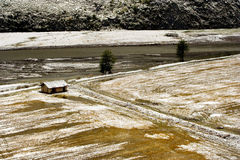 by för sikt för snow för porslinlashangri tibetan Royaltyfri Fotografi