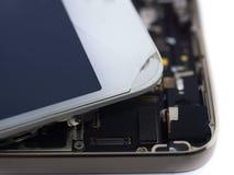 För siktsströmkrets för slut bruten skärm för övre telefon smart, begrepp smart p Arkivfoton
