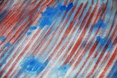 För silverfläck för mousserande driftig passion vita blåa röda fläckar för vattenfärg för målarfärg för textur Arkivfoton