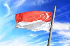 för singapore för tillgänglig flagga glass vektor stil Royaltyfri Fotografi