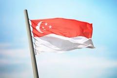 för singapore för tillgänglig flagga glass vektor stil Royaltyfria Foton