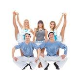 för sjömanlag för dans posera likformig Royaltyfri Bild