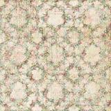 För sjaskig blom- sömlös modell rosbakgrund för tappning vektor illustrationer