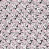 För sjaskig blom- sömlös modell rosbakgrund för tappning stock illustrationer