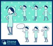 för sjuksköterskakläder för typ 2tone women_set 03 royaltyfri illustrationer