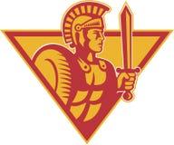 för sköldsoldat för centurion roman svärd stock illustrationer