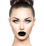 För skönhetmodell för högt mode flicka arkivfoto
