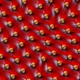 För skalledesign för ovanligt rött läder guld- stoppning Fotografering för Bildbyråer