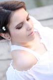 för skincarewellness för flicka älskvärt barn Arkivfoto