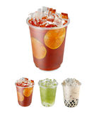 för skivatake för away svart limefrukt röd tea Royaltyfri Fotografi