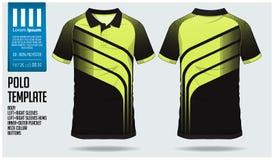För skjortasport för polo t mall för design för fotbollärmlös tröja, fotbollsats eller sportklubba Enhetlig främst sikt för sport stock illustrationer
