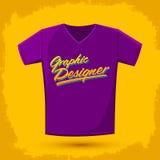 För skjortavektor för grafisk formgivare bokstäver stock illustrationer