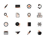 För skola symboler enkelt Arkivfoton