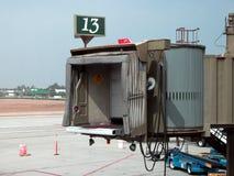 för skräckflyg för flygplats ståndsmässig orange Royaltyfri Bild