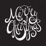 För skriftlig glad jul grungeinskrift för hand Royaltyfri Foto