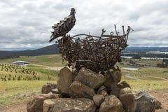 För skulpturmedborgare för rede 111 Arboretum Arkivbilder