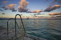för skymningmerwether för 5 bad hav Royaltyfri Fotografi