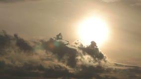 för skysun för dramatisk illustration orange vektor arkivfilmer