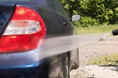 för slangmaskin för bil clean wash för svamp close upp royaltyfri fotografi