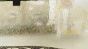 för slangmaskin för bil clean wash för svamp Kontakta mindre biltvätt med aktiv skummar arkivfilmer