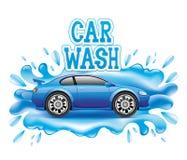 för slangmaskin för bil clean wash för svamp royaltyfri illustrationer