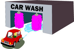 för slangmaskin för bil clean wash för svamp Royaltyfri Bild