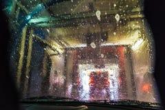 för slangmaskin för bil clean wash för svamp Arkivfoton