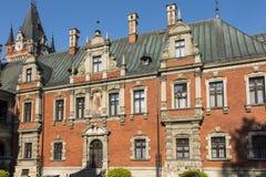 för slottplawniowice för landmark gammal för poland silesia region upper royaltyfri foto