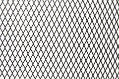 För slut för svartstål upp netto bur för texturisolat på vit bakgrund stock illustrationer