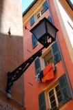 för slutaregata för lampa trevlig öppen vägg Arkivbild
