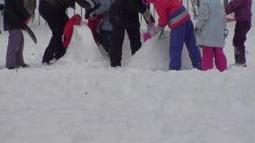 För snöbakgrund för vinter rolig video arkivfilmer