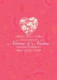 För snittstil för kinesiskt papper mall för kort för inbjudan för bröllop Arkivfoton