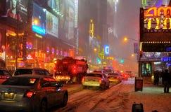 för snowstorm för 42 stad ny gata york Royaltyfri Foto