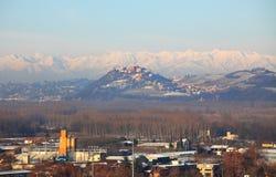 för snowtown för kull industriell liten zon Royaltyfri Foto