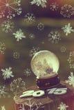 för snowvektor för jordklot illustration isolerad white Royaltyfri Fotografi