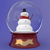 för snowvektor för jordklot illustration isolerad white Arkivfoto