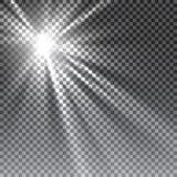 För solljussakkunnig för vektor genomskinlig lins Royaltyfri Foto