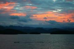 För solnedgång Fotografering för Bildbyråer