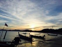 För solnedgång Arkivfoton