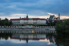 För solnedgång Warszawa - Polland Arkivbild