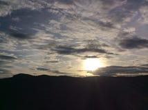 För solnedgången Arkivfoton