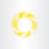 För solskenvektor för cirkel gul bakgrund för abstrakt begrepp Arkivbild