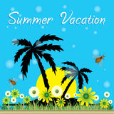 för sommarterritorium för katya krasnodar semester vektor illustrationer