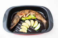 för soyafrukt för fisk kryddig panna Royaltyfria Foton