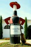 för spain för källarelogopepe wine tio royaltyfri bild